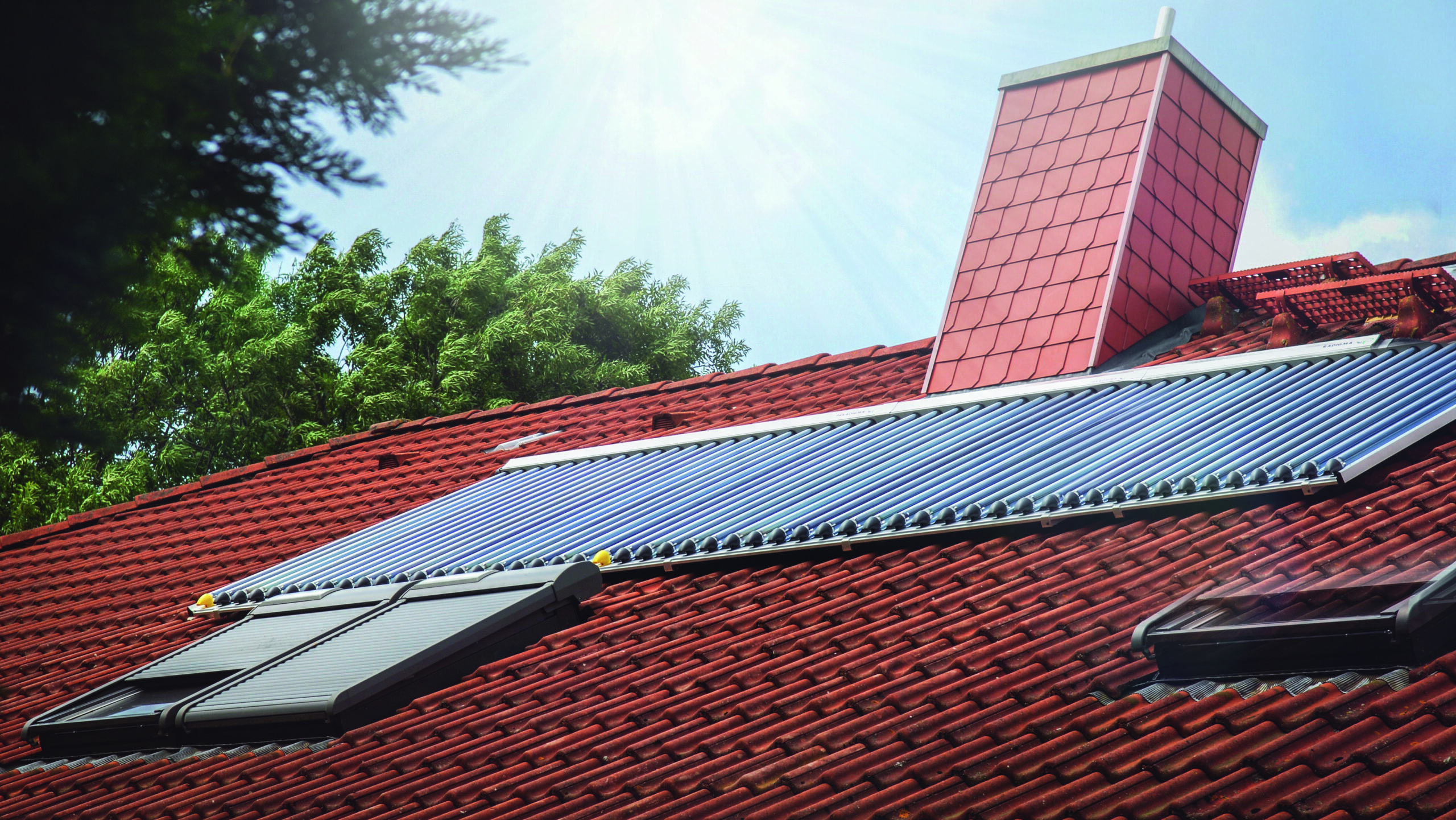 Dach mit Solarthermie-Anlage von Paradigma